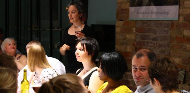 Mirella Amato hosting a beer tasting dinner in Toronto