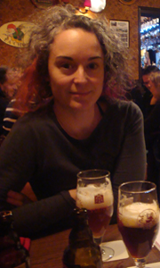 Mirella Amato at café 't Brugs Beertje in Bruges