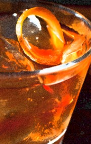 Closeup of a beer-based cocktail