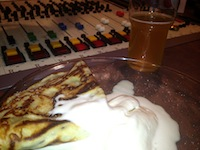 beer and food pairing at a recording of the Ontario Brewer Podcast